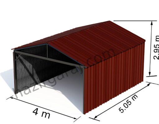 hazır çelik otopark kırmızı trapez sac